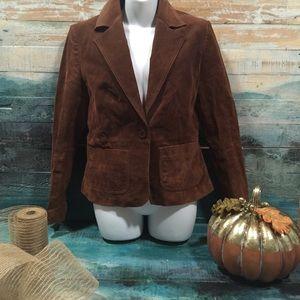 New York & Company brown business Blazer size10